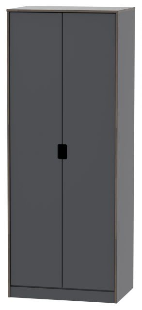 Muscat Bedroom Collection 2 Door Wardrobe Graphite