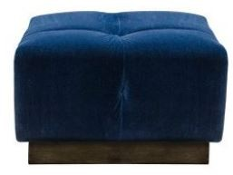 Alexander and James - Editor Sofa Collection Small Footstool Grade B Leather
