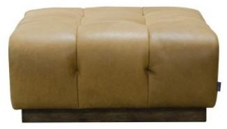 Alexander and James - Editor Sofa Collection Large Footstool Grade B Leather