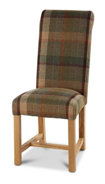 Country Collection Roll Back Oiled leg Dining Chair - Finesse