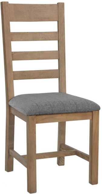 Charlbury Dining Collection Slatted Dining Chair Grey Check