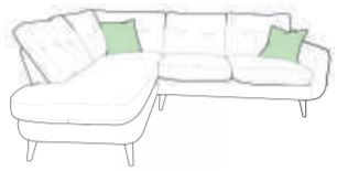 Lurano Sofa Collection Corner Group - Right Hand Facing Arm - Grade B Fabric