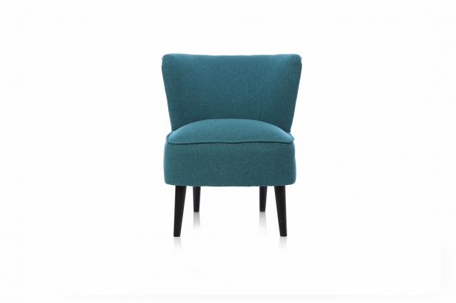 Martino Accent Chair Collection - Accent Chair - FASTRACK - Dove Emerald - Black Legs