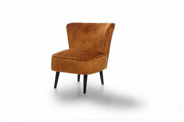 Martino Accent Chair Collection - Accent Chair - FASTRACK - Dove Turmeric - Black Legs