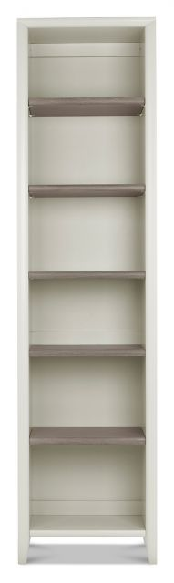 Revox Home Office Collection Narrow Bookcase Grey Washed Oak & Soft Grey