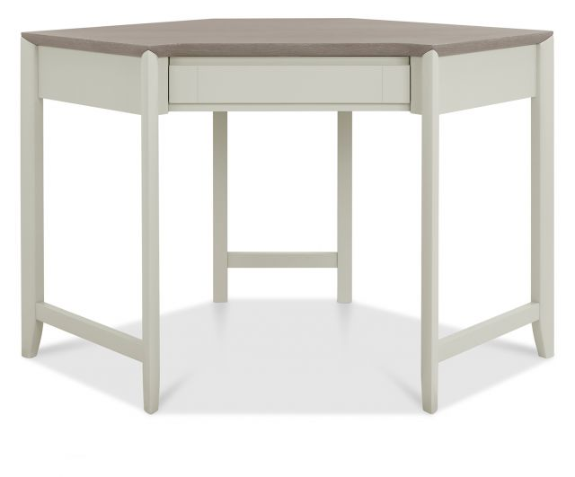 Revox Home Office Collection Corner Desk Grey Washed Oak & Soft Grey