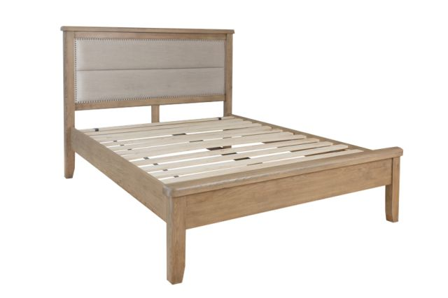 Charlbury Bedroom Collection 4'6 Bed with Fabric headboard and low end footboard set