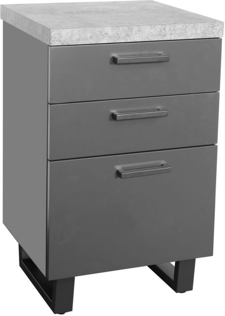 Studio Collection Filing Cabinet - STONE EFFECT