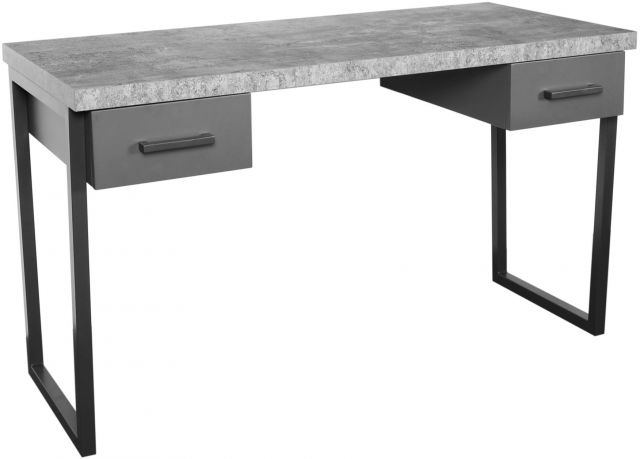 Studio Collection Drawered Desk - STONE EFFECT