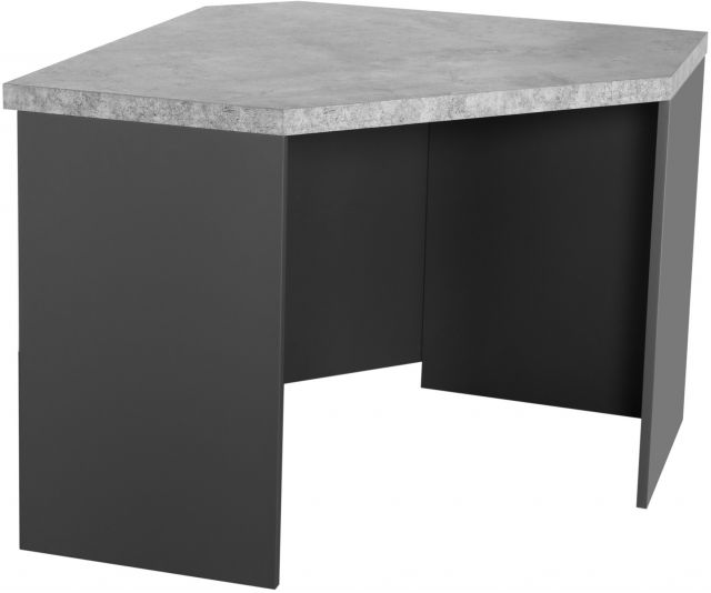 Studio Collection Corner Desk - STONE EFFECT