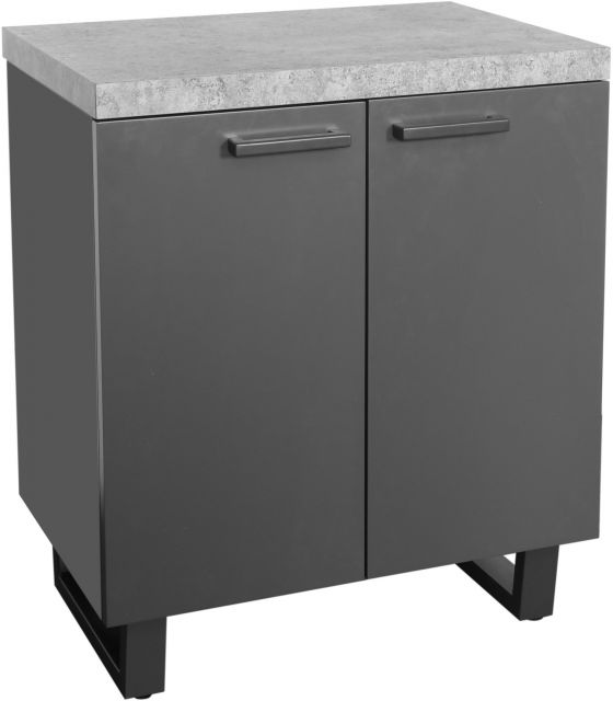 Studio Collection 2 Door Storage Cabinet - STONE EFFECT
