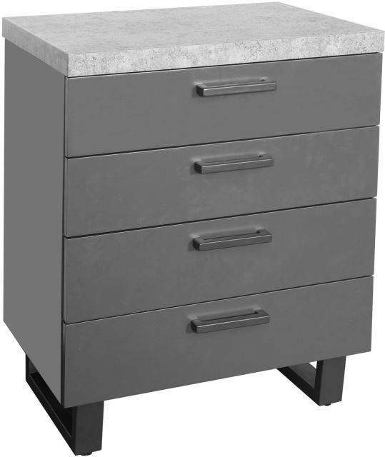 Studio Collection 4 Drawer Chest - STONE EFFECT