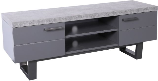 Studio Collection TV Unit - STONE EFFECT