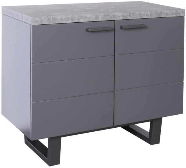 Studio Collection Small Sideboard - STONE EFFECT