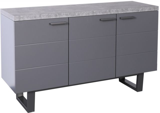 Studio Collection Large Sideboard - STONE EFFECT