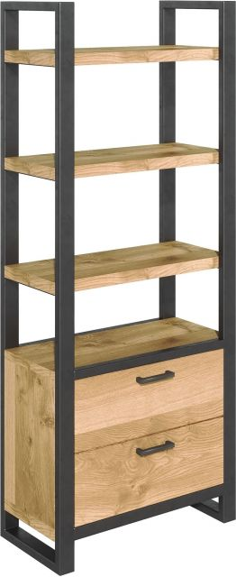 Studio Collection Bookcase with Drawers - OAK
