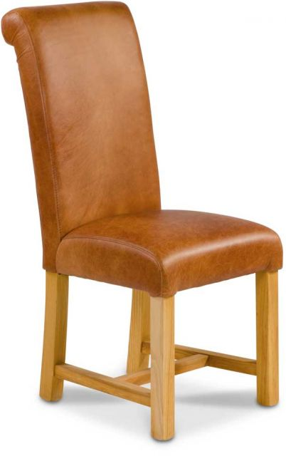 Country Collection Country Rollback Dining Chair - Brown Cerato